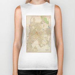 Vintage Map of Mount Vernon NY (1893) Biker Tank