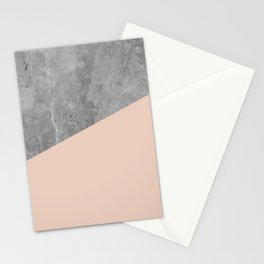 Simply Concrete Blush Pink Stationery Cards