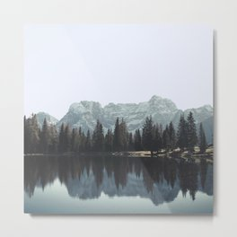 Reflections in the Dolomites Metal Print