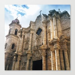 Plaza de la catedral Canvas Print