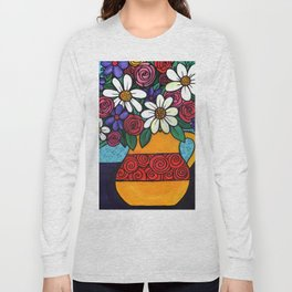 Pitcher of Flowers Long Sleeve T-shirt