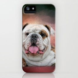 Hanging Out - Bulldog iPhone Case