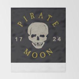 Pirate Moon Throw Blanket