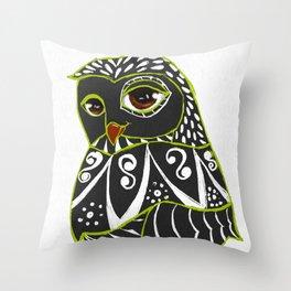 Kaleidoscope Owl Throw Pillow