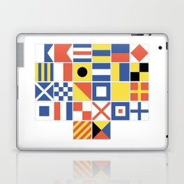 Nautical Flags Laptop & iPad Skin
