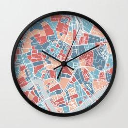 Krakow map Wall Clock
