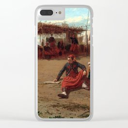Pitching Quoits Clear iPhone Case