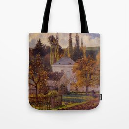 Bourgeois House In L Hermitage Pontoise 1873 By Camille Pissarro | Reproduction | Impressionism Pain Tote Bag