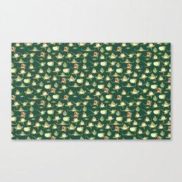 FROOOOOOOOOOOOWG PATTERN dark green Canvas Print