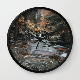Autumn Creek - Landscape and Nature Photography Wall Clock
