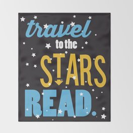 Stars - Just Read Throw Blanket