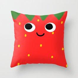 Little Strawb Throw Pillow