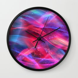 Abstract Shiny Night Lights 18 Wall Clock