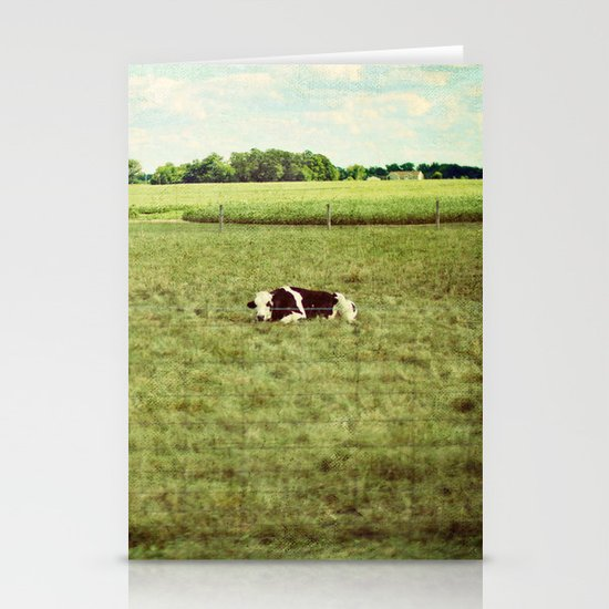 resting cow Stationery Cards