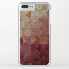 Geometric Sun Clear iPhone Case