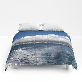 Caribbean Island Panorama Comforters