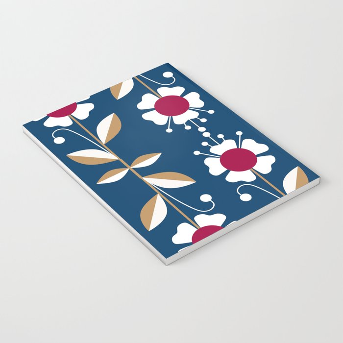 Blue floral pattern . Notebook