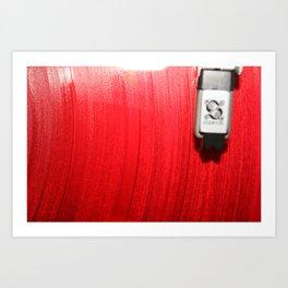 Red Vinyl Art Print