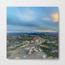 Pathway at the Top of the World Metal Print
