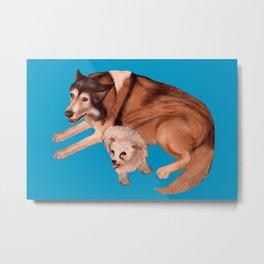 Dog Best Friends Metal Print