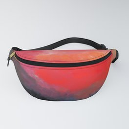 Red, Black and Yellow Mosaic Fanny Pack
