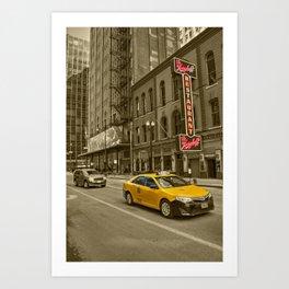 Chicago Taxi  Art Print