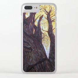 Oak Tree in Autumn Clear iPhone Case