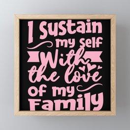 Family Love Saying Framed Mini Art Print