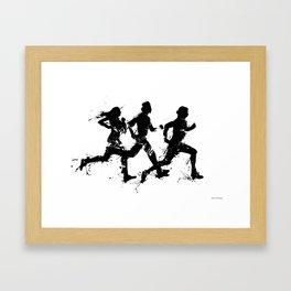 Runners in ink Framed Art Print