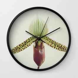 Into Orchid Wall Clock