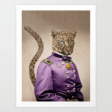 Grand Viceroy Leopold Leopard Art Print
