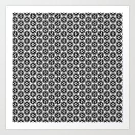 Black and White Patterns | Sharp Star Slice Art Print