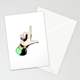Billie Loser Hand Sign With Cool Nails Stationery Cards