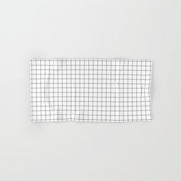 Black and White Thin Grid Graph Hand & Bath Towel