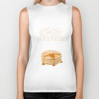 psych Biker Tanks featuring my body craves buttery goodness.. funny psych tv quote by studiomarshallarts