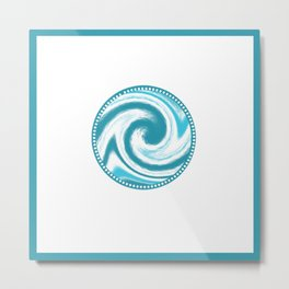 Swirling Water Wave Metal Print