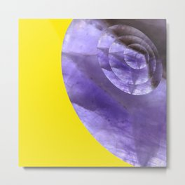 Yellow Mystical Powers of Amethyst #society6 Metal Print