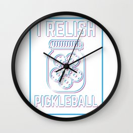 Pickleball Pun design Funny Pickleball Training Gift Wall Clock