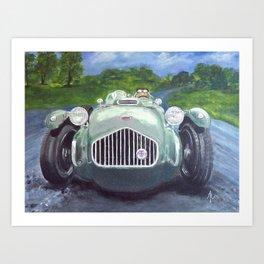 Racing Car on race track Art Print