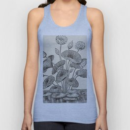 Water Lillies Unisex Tank Top