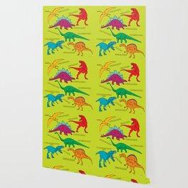 Dinosaur Print - Colors Wallpaper