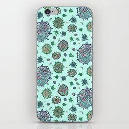 Aqua Bulbous Microbes  iPhone Skin