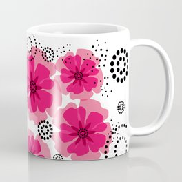 PEPPER POPPIES   fuschia Coffee Mug