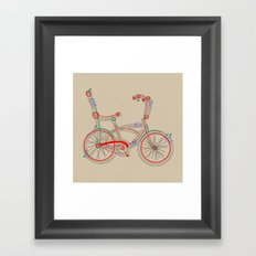 Aztec Bicycle Framed Art Print
