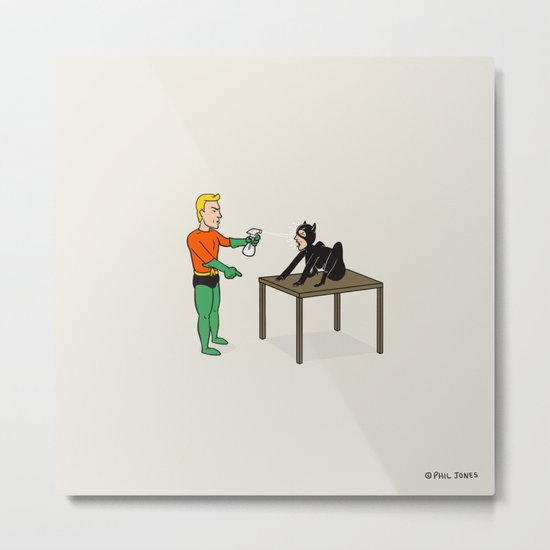 Cat Training Metal Print