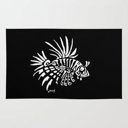 Lionfish - marine fish - pterois - tatoo Rug