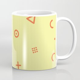 Happy Particles - Yellow Coffee Mug