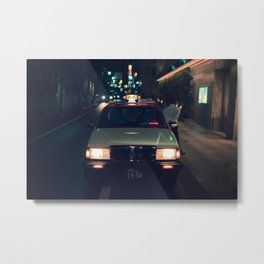 Film Noir Tokyo Taxi Metal Print