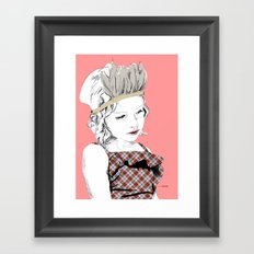 Little Indian Girl Framed Art Print