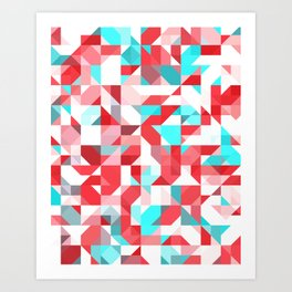 Staccato Red Art Print